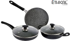 Ethical Mastreo Series 4pcs without Induction Base Cookware Set /Cookware Set With Glass Lid/Festival Pack Cookware.