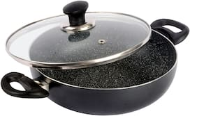 Ethical Mastreo Series Pfoa Free Non-Stick Induction Kadahi With Toughened Glass Lid.
