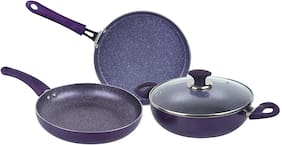 Ethical Royale Series Induction Cookware Set/ 4 Pcs Cookware Set/ Cookware With Glass Lid.