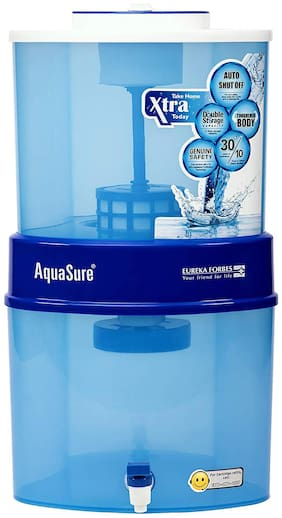 Eureka Forbes Xtra Tuff Sr 21 litres  Aquasure from Aquaguard Gravity Water Purifier (Blue)