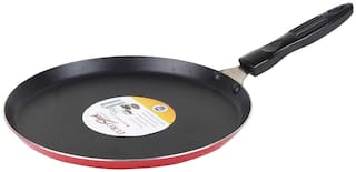 Euro Sleek Non Stick Regular Gas Stove Compatible Dosa Tawa (24 Cm /240 Mm/9 Inches)  (2.6Mm Thickness)
