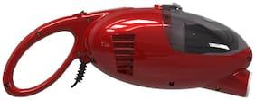 Euroclean Litevac Handy Vacuum Cleaner (Cherry Red & Silver)