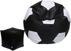 Euroshop Bean Bag Football With Puffy Cover Xl Without Beans