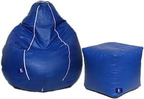 Euroshop Strip Bean Bag With Puffy Cover L Without Beans