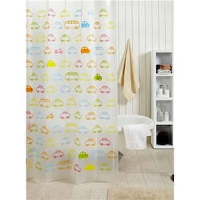 EuroTex Designer Multicolor Waterproof Polyester Beverly Shower Curtain Size:- 70Lx78W
