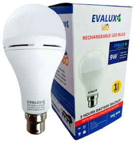 EVALUX 9WATT RECHARGEABLE EMERGENCY LED BULB
