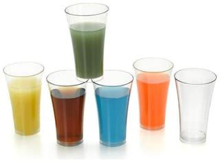 Everbuy 100% Unbreakable Glassware Crystal Clear Transparent Water Juice Glasses Beer Glass/Wine Indoor Outdoor Reusable for Drinking Set of 6