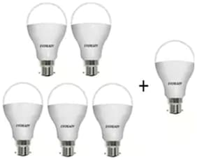 Eveready 12W-6500K Cool Day Light Pack of 5 with 1 pc 12W Led Bulb Free