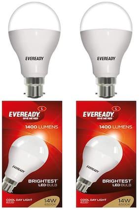 Eveready 14 Watt Cool Daylight B22D LED Bulb,  Cool Day Light (Pack of 2)