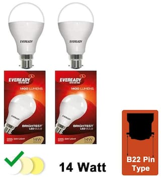 Eveready 14 W Cool Day Light LED Bulb - Pack Of 2