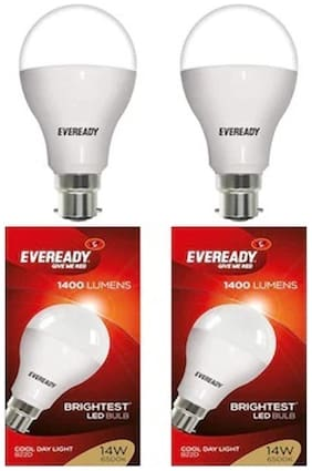 Eveready 14 Watt Cool Day Light LED Bulb - Pack Of 2