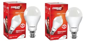 Eveready 14 Watt Cool Daylight B22D LED Bulb,  Cool Day Light (Pack of 2)