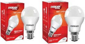 Eveready 7;9 Watt Plug & Play CFL Bulb - Cool daylight , Pack of 2