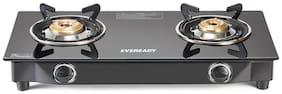 Eveready 2 Burner Manual Regular Black Gas Stove - Eveready