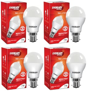 Eveready 7W-6500K Cool Day Light Pack of 4 Led Bulbs