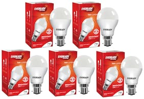 Eveready 7W-6500K Cool Day Light Pack of 5 with Free Battery