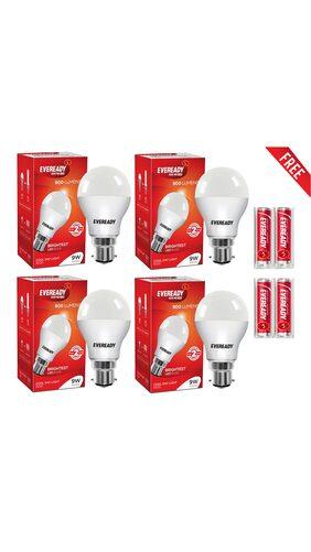 Eveready 9 Watt Cool Daylight Led Bulb (4 Bulbs)