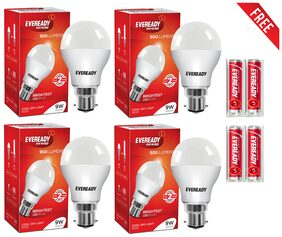 Eveready 9 Watt Cool Daylight B22D LED Bulb (Pack of 4)