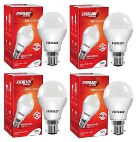 Eveready 9W-6500K Cool Day Light Pack of 4 Led Bulbs