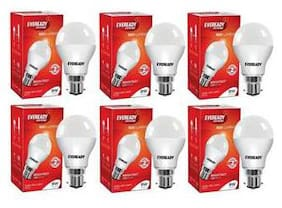 Eveready 9W-6500K Cool Day Light Pack of 5 with 1 Pc 9W Led Bulb Free