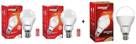 Eveready 9W-6500K Cool Day Light Pack of 2 with 14W Led Bulb
