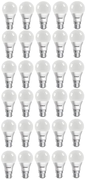 Eveready 9W-6500K Cool Day Light 30 Pc Bulb Pack with Free Battery