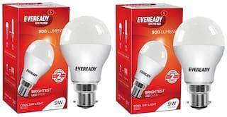 Eveready 9 Watt 6500K Cool Daylight B22D LED Bulb (Pack of 2)