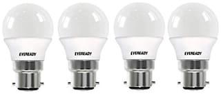 Eveready Base B22 2.5-Watt LED Bulb (Pack of 4, White)