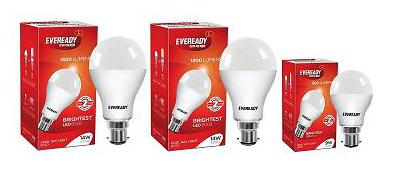 Eveready Base B22 14W Pack of 2 + 9W LED Bulbs  Cool Day Light