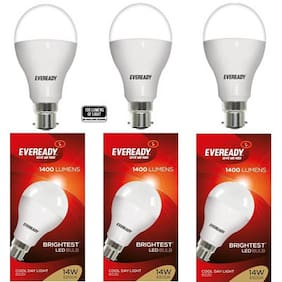 Eveready 14 Watt Cool Daylight B22D LED Bulb (Pack of 3)