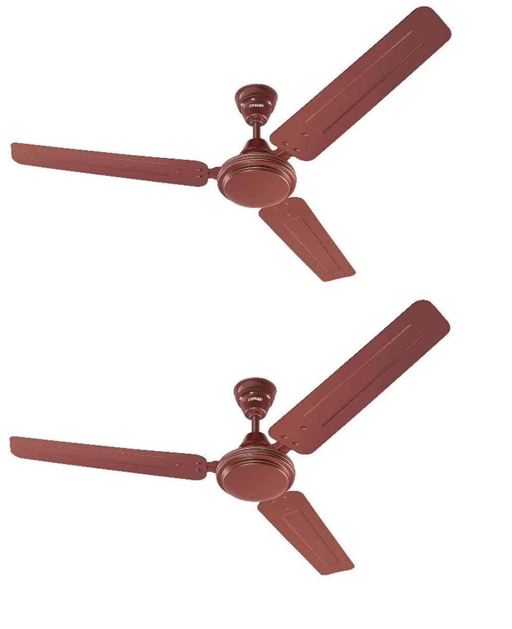 Eveready FAB-M 1200MM Ceiling Fan (Brown) Pack of 2