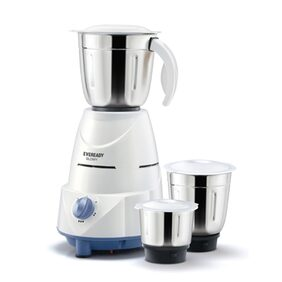 Eveready Glowy 500 W Mixer Grinder (White & Blue/3 Jars)