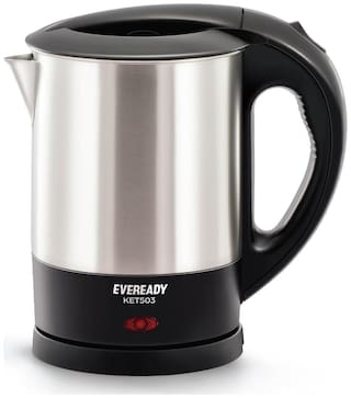 Eveready KET503 1 L Electric Kettle ( Silver )