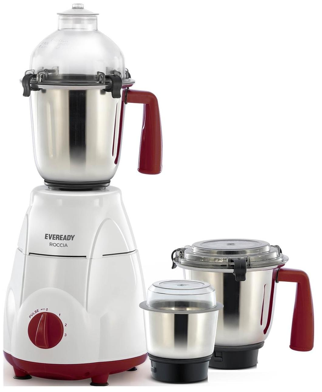 Eveready Roccia 750 W Mixer Grinder (White)