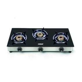 Eveready 3 Burners Gas Stove - Black