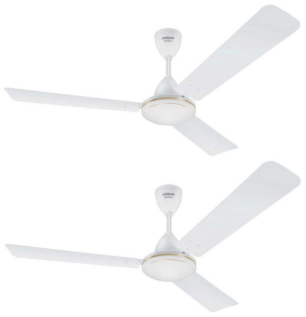 Eveready Vanilo 1200MM Ceiling Fan (White) Pack of 2