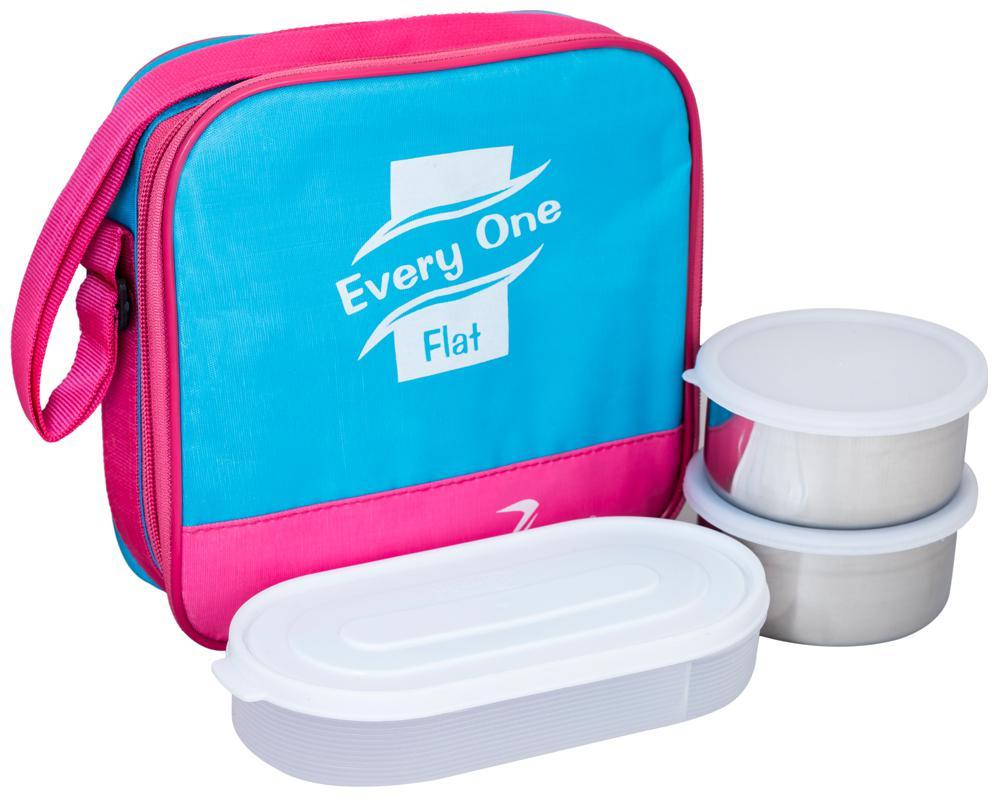 Zanelux 3 Containers Plastic Lunch Box   Multi