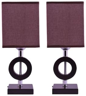 Ewolve Gift Set of 2 Premium Quality Stylish Table Lamp (LxWxH: 39x16x16 CM)