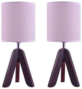 Ewolve Gift Set of 2 Premium Quality Stylish Table Lamp (LxWxH: 39x15x15 CM)