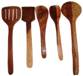 Exclusive Wooden Skimmer Spoons - Set Of 5
