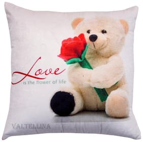 Express your love with Welhouse India Teddy Print  Cushion Cover For Love ones