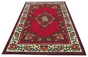 Firoz & Brothers Carpet for Bedroom High Emboss Cut  11mm soft Pile  5X7 Feet Brown Colour