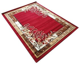 Firoz & Brothers Carpet for Bedroom 5X7 Feet Red Colour