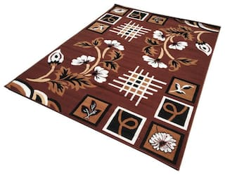 Firoz & Brothers Carpet for Living Room 5X7 Feet Brown Colour