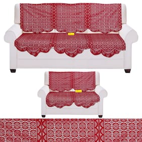 FAB NATION 10 Sofa panels for 5 Seater- Net sofa cover and chair cover set