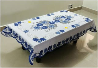38a427d21 Buy FAB NATION Blue Floral Centre Table Cover Online at Low Prices ...