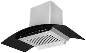 FABER Wall Mounted Auto Clean 90 cm 1100 m3/h Black Chimney