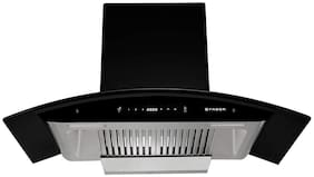 FABER Wall Mounted Auto Clean 90 cm 1500 m3/h Black Chimney