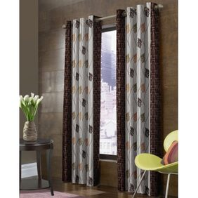 fabzi Single Long Door Eyelet Curtains Solid Multi Color