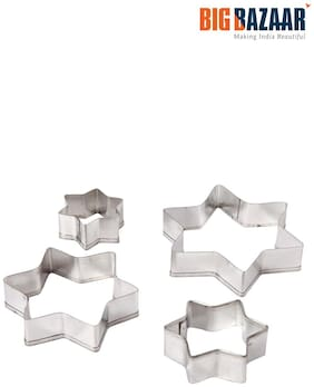 Fackelmann 4 Pcs Star Shape Cookie Cutter Set (43009)